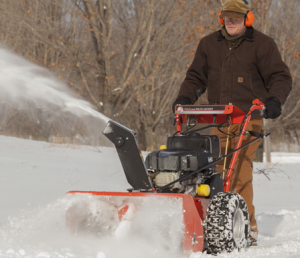 snow and brush mower