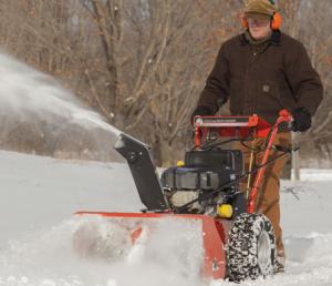 cortador de neve e escova