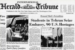 International Herald Tribune's front page on Tehran Embassy Seize