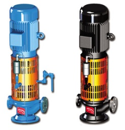 RAV/RWAV Series Air-Cooled Vertical Inline Thermal Liquid/Hot Water Pumps