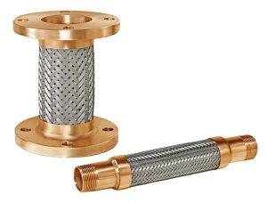 Oro y plata Conectores de la bomba de la serie trenzado flexible