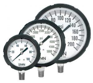 Span-stainless-steel-liquid-filled-pressure-gauges
