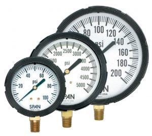 Span-brass-liquid-filled-pressure-gauges