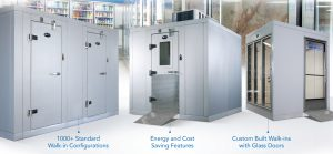 Refrigeradores-freezers da loja de conveniência Amerikooler