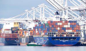 cargo ship oakland port global trade